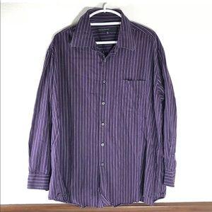 Perry Ellis portfolio striped shirt size XXL